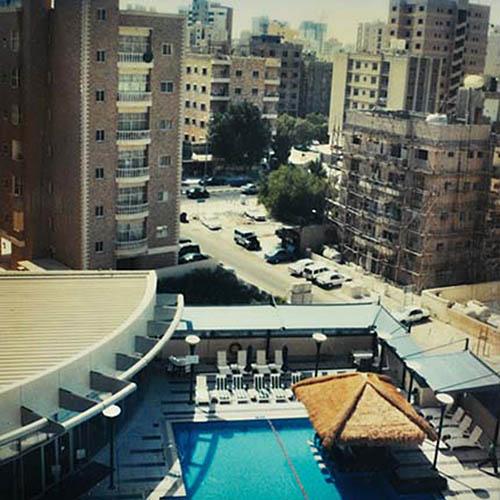 View from hotel window. Kuwait 21/9/05